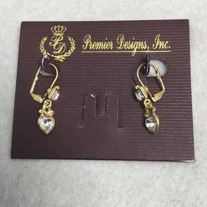 """Premier Designs """"In Love"""" Dangle Earrings"""